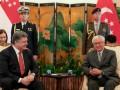 Порошенко встретился с президентом и премьером Сингапура
