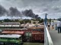 В Ровно горит воинская часть