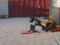 Появилось видео, как боевики ведут стрельбу прямо из дворов жилых домов