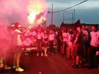 Радикалы из С14 провели файерный марш в Киеве