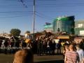 Коммунальщики снесли новую порцию МАФов возле станции метро Лесная