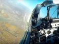 Пилот украинского истребителя показал свой полет