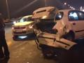 На Южном мосту в Киеве столкнулись шесть автомобилей