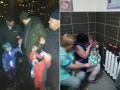 Под Киевом спасатели сняли с крыши больницы горе-отца с маленькими детьми