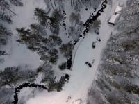 В Сети показали заснеженные Карпаты с высоты птичьего полета