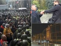 Итоги 17 октября: протесты под Радой, конфликты депутатов и захват вертолетной площадки Януковича