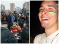 В Черкассах прощались с молодым десантником, погибшим в аэропорту