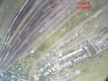 Беспилотник снял железнодорожный узел в Дебальцево, заполненный составами