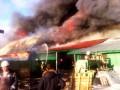 Под Киевом сгорела СТО с автомобилями