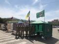 На площади в центре Харькова установили еще одну палатку