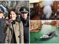 День в фото: Згуладзе с полицейскими, газ в парламенте Косово и кит в Венеции