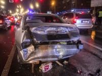 Масштабное ДТП в Киеве: Пьяный водитель Range Rover разбил пять машин