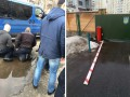 В Киеве водитель заехал в департамент полиции, пытаясь уйти от погони