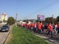 Во Львове медицинские работники вышли на митинг