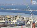 В Одессе военные корабли вмерзли в лед