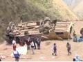 В Перу автобус рухнул в пропасть: 19 жертв