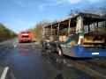 В Днепропетровской области на ходу загорелся автобус