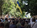 Под АП бойцы батальонов Донбасс, Днепр и Айдар требуют ввести военное положение (фото)
