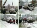 Грузовик провалился в яму в центре Киева