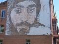В центре Киева появился граффити-портрет Сергея Нигояна