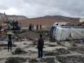 В Перу 80 человек пострадали при столкновении двух автобусов