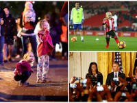 День в фото: гол маленького фаната, восхищение огнями и Обама на приеме