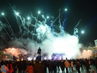 Танцы, Ленин и салют: как Донецк встретил Новый год