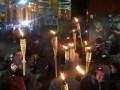 В Киеве прошло факельное шествие