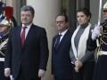 Порошенко обсудил с Меркель и Олландом подготовку к саммиту в Астане