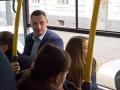 Кличко с киевлянами проехал в автобусе по Троещине