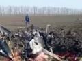 Появилось видео с места крушения самолета в России