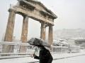 Акрополь под снегом. Мощнейший снегопад в Греции