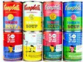 В американских супермаркетах появятся банки супа в стиле поп-арт
