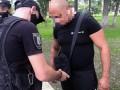 В центре Киева мужчина угрожал съемочной группе ножом
