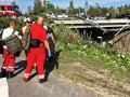 В Финляндии автобус рухнул с моста, есть погибшие