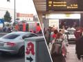 В Берлине машина съехала по лестнице на станцию метро