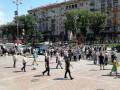 Под КГГА вышли на протест уволенные парковщики