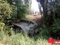 Российский танк перевернулся на трассе Симферополь-Ялта