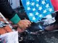 Появилось видео, как американцы жгут свой флаг в знак протеста