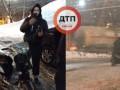 В Киеве прохожие задержали пьяного на скутере