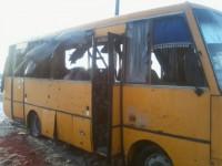 Обстрел под Волновахой: водитель автобуса считает, что взорвалась мина
