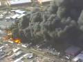 В США на заводе по утилизации отходов - масштабый пожар