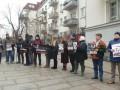 Под ОП митинговали в поддержку подозреваемых в деле Шеремета