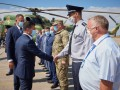 Зеленский на военном вертолете прилетел в Кропивницкий