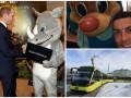 День в фото: Принц Уильям с носорогом, Роналду с бурундуком и долгожданный трамвай во Львове