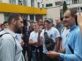 В Киеве возле суда произошел конфликт между журналистом Громадського и С14