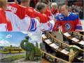 День в фото: Букет для Нади, Путин на льду и зеленый слоник