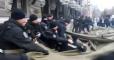 Полиция демонтировала палатку протестующих у НБУ, произошла потасовка