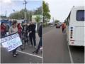 Под Киевом митингующие второй день перекрывают дорогу