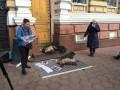 Одесситы обложили здание Нацполиции трупами животных